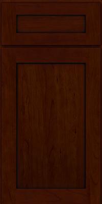 Square Recessed Panel - Veneer (LY) Cherry in Chocolate w/Ebony Glaze - Base