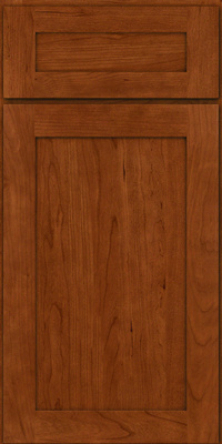 Square Recessed Panel - Veneer (LY) Cherry in Cinnamon - Base