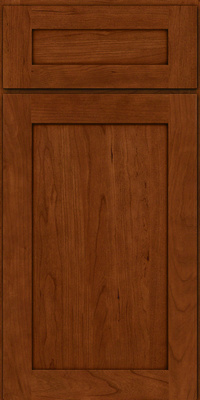 Square Recessed Panel - Veneer (LY) Cherry in Cinnamon w/Onyx Glaze - Base