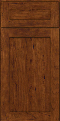 Square Recessed Panel - Veneer (LY) Cherry in Cognac - Base