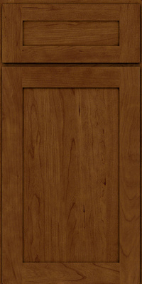 Square Recessed Panel - Veneer (LY) Cherry in Ginger w/Sable Glaze - Base