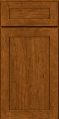 Square Recessed Panel - Veneer (LY) Cherry in Golden Lager - Base
