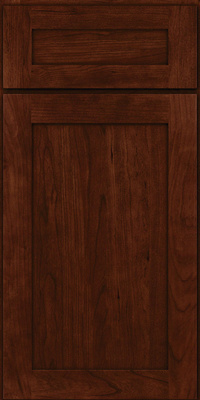 Square Recessed Panel - Veneer (LY) Cherry in Kaffe - Base