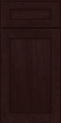 Square Recessed Panel - Veneer (LY) Cherry in Peppercorn - Base