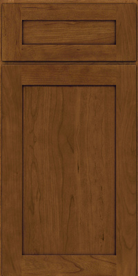 Square Recessed Panel - Veneer (LY) Cherry in Rye w/Onyx Glaze - Base