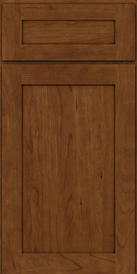 Square Recessed Panel - Veneer (LY) Cherry in Rye w/Sable Glaze - Base