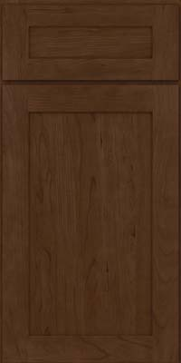 Square Recessed Panel - Veneer (LY) Cherry in Saddle Suede - Base