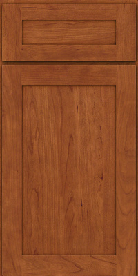 Square Recessed Panel - Veneer (LY) Cherry in Sunset - Base
