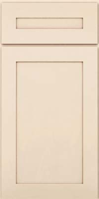 Square Recessed Panel - Veneer (MP) Maple in Canvas w/Cocoa Glaze - Base