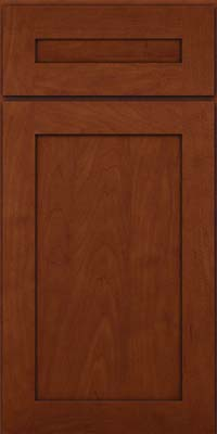 Square Recessed Panel - Veneer (MP) Maple in Chestnut w/Onyx Glaze - Base