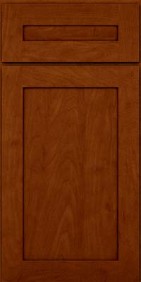 Square Recessed Panel - Veneer (MP) Maple in Cinnamon w/Onyx Glaze - Base
