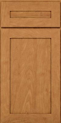 Square Recessed Panel - Veneer (MP) Maple in Ginger w/Sable Glaze - Base
