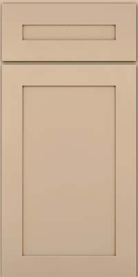 Square Recessed Panel - Veneer (MP) Maple in Mushroom w/Cocoa Glaze - Base