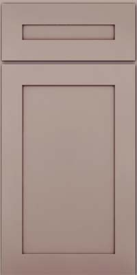 Square Recessed Panel - Veneer (MP) Maple in Pebble Grey w/ Cocoa Glaze - Base