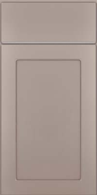 Square Recessed Panel - Veneer (MP) Maple in Pebble Grey w/ Coconut Glaze - Base