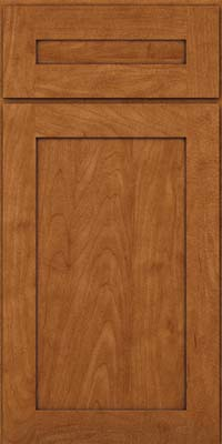 Square Recessed Panel - Veneer (MP) Maple in Praline w/Onyx Glaze - Base