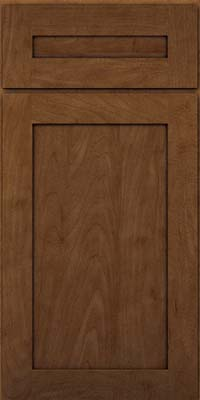 Square Recessed Panel - Veneer (MP) Maple in Rye w/Onyx Glaze - Base