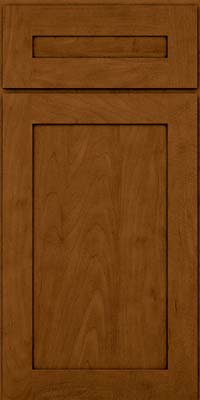 Square Recessed Panel - Veneer (MP) Maple in Rye w/Sable Glaze - Base