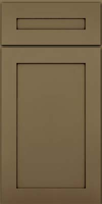 Square Recessed Panel - Veneer (MP) Maple in Sage w/Cocoa Glaze - Base
