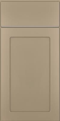 Square Recessed Panel - Veneer (MP1) Maple in Willow w/Coconut Glaze - Base