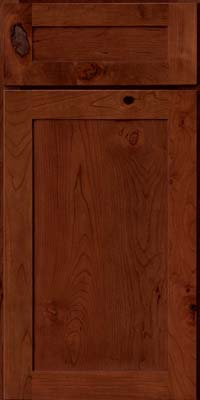 Square Recessed Panel - Veneer (AC7C) Rustic Cherry in Autumn Blush - Base