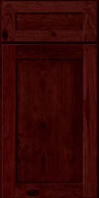 Square Recessed Panel - Veneer (AC7C) Rustic Cherry in Cabernet - Base
