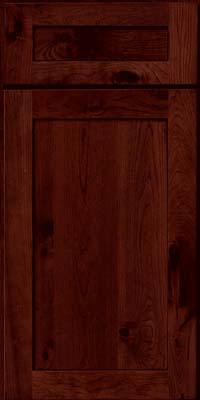 Square Recessed Panel - Veneer (AC7C) Rustic Cherry in Cabernet w/Onyx Glaze - Base