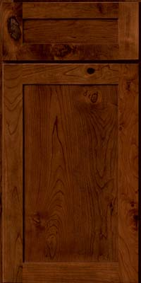 Square Recessed Panel - Veneer (AC7C) Rustic Cherry in Chocolate - Base