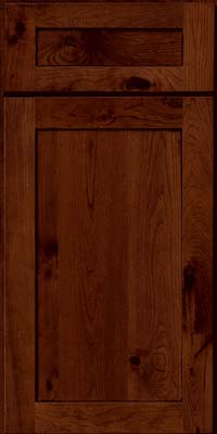 Square Recessed Panel - Veneer (AC7C) Rustic Cherry in Chocolate w/Ebony Glaze - Base