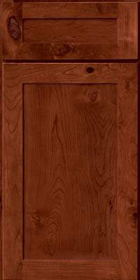 Square Recessed Panel - Veneer (AC7C) Rustic Cherry in Cinnamon - Base