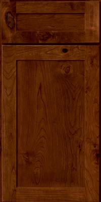 Square Recessed Panel - Veneer (AC7C) Rustic Cherry in Cognac - Base
