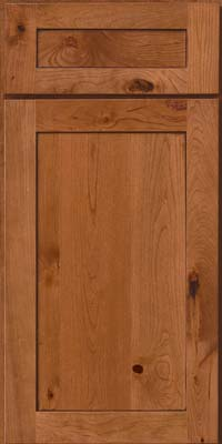 Square Recessed Panel - Veneer (AC7C) Rustic Cherry in Ginger w/Sable Glaze - Base
