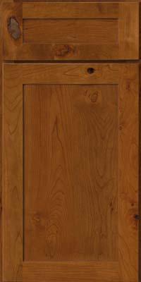 Square Recessed Panel - Veneer (AC7C) Rustic Cherry in Golden Lager - Base