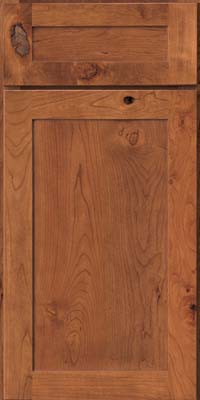 Square Recessed Panel - Veneer (AC7C) Rustic Cherry in Honey Spice - Base