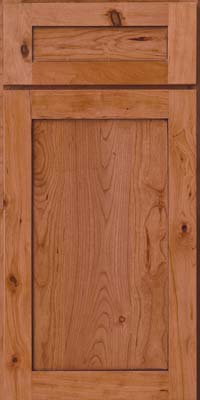 Square Recessed Panel - Veneer (AC7C) Rustic Cherry in Honey Spice w/Mocha Highlight - Base