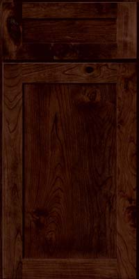 Square Recessed Panel - Veneer (AC7C) Rustic Cherry in Kaffe - Base