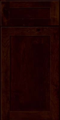 Square Recessed Panel - Veneer (AC7C) Rustic Cherry in Peppercorn - Base