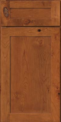 Square Recessed Panel - Veneer (AC7C) Rustic Cherry in Sunset - Base