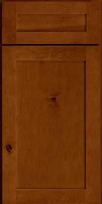 Square Recessed Panel - Veneer (AC7M) Rustic Maple in Chestnut - Base