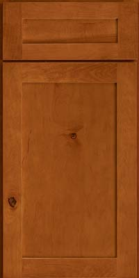 Square Recessed Panel - Veneer (AC7M) Rustic Maple in Cinnamon - Base