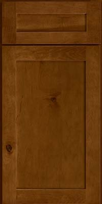 Square Recessed Panel - Veneer (AC7M) Rustic Maple in Cognac - Base