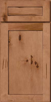 Square Recessed Panel - Veneer (AC7M) Rustic Maple in Ginger w/Sable Glaze - Base