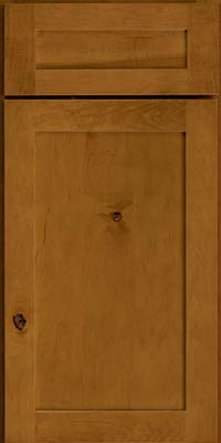 Square Recessed Panel - Veneer (AC7M) Rustic Maple in Golden Lager - Base