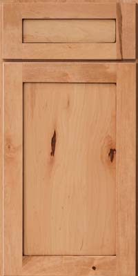 Square Recessed Panel - Veneer (AC7M) Rustic Maple in Honey Spice w/Mocha Highlight - Base