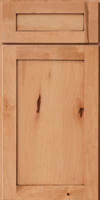 Square Recessed Panel - Veneer (AC7M) Rustic Maple in Honey Spice w/Mocha Highlight - Base