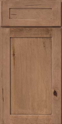 Square Recessed Panel - Veneer (AC7M) Rustic Maple in Husk - Base