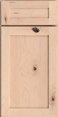 Square Recessed Panel - Veneer (AC7M) Rustic Maple in Parchment - Base