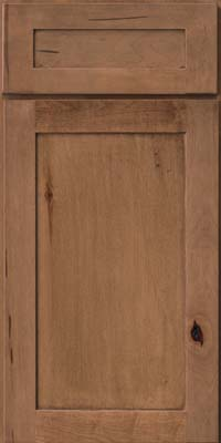 Square Recessed Panel - Veneer (AC7M) Rustic Maple in Rye - Base