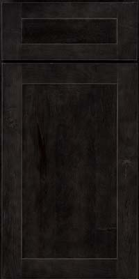 Square Recessed Panel - Veneer (AC7M) Rustic Maple in Slate - Base