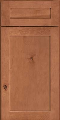 Square Recessed Panel - Veneer (AC7M) Rustic Maple in Toffee - Base